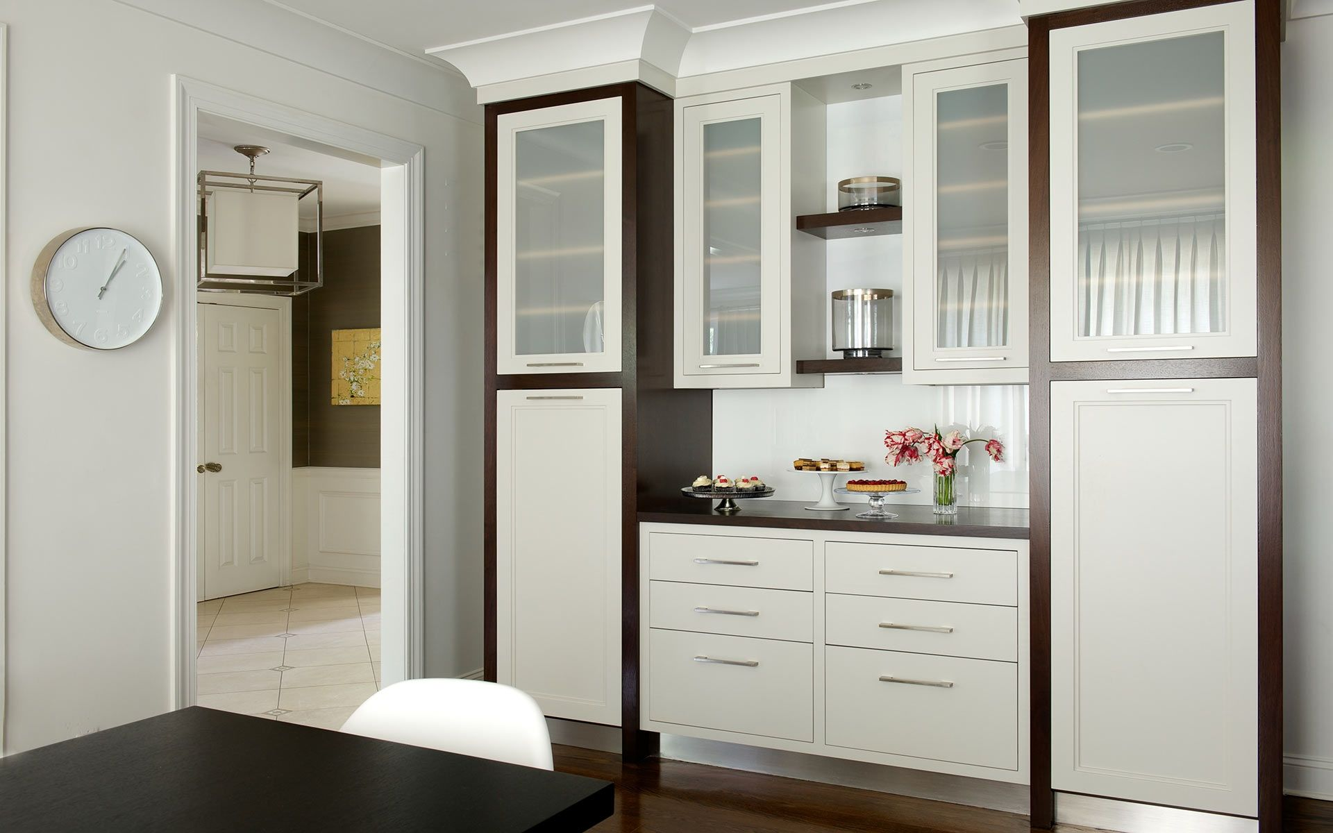 white door/drawer fronts, wood trim cabinets | White doors ...