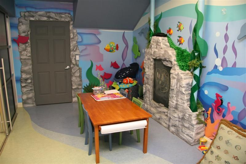 Happy Home Office Ideas: Comfy Pediatrician Office Design Fish