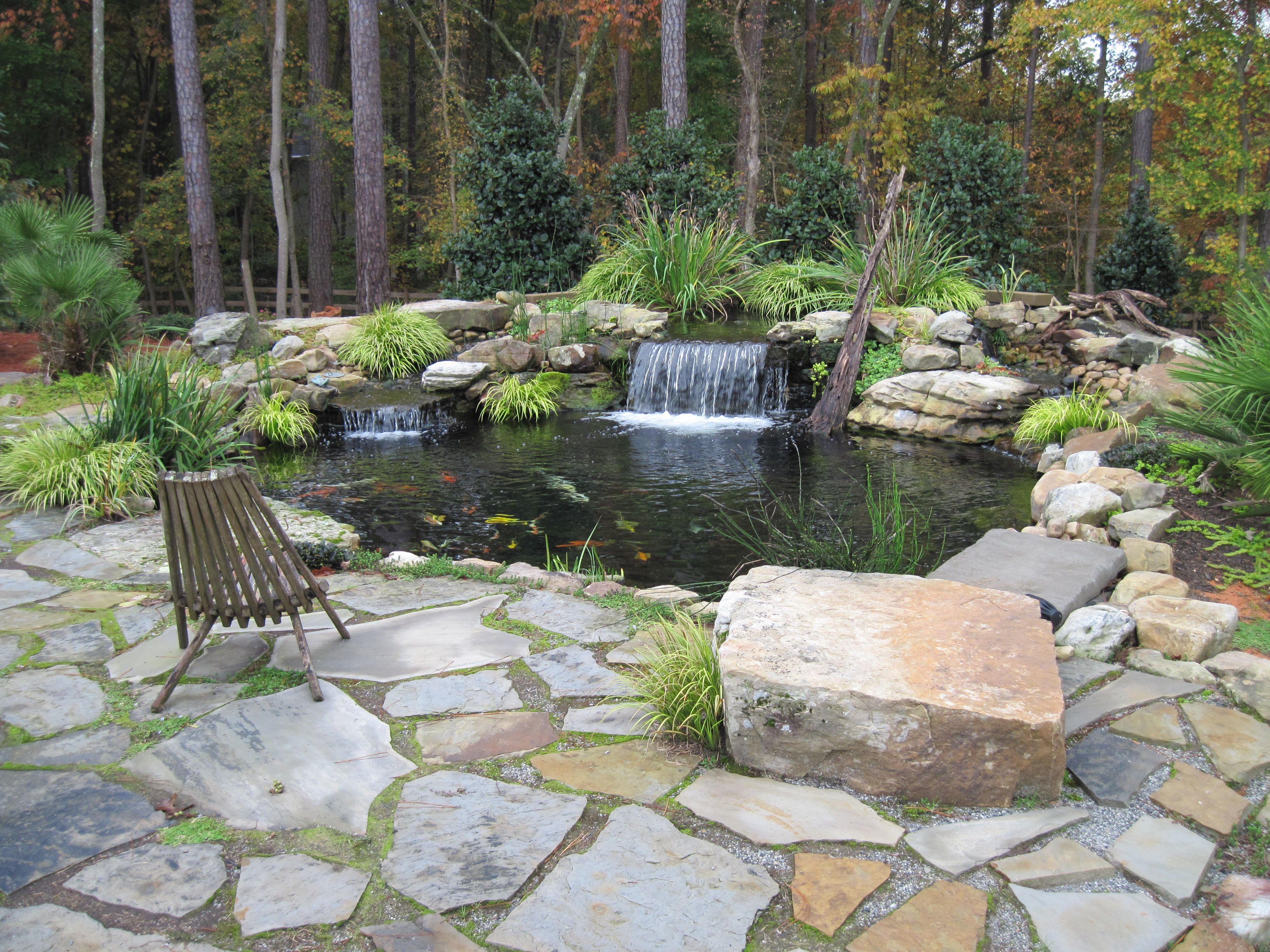 Flagstone Pond Edging