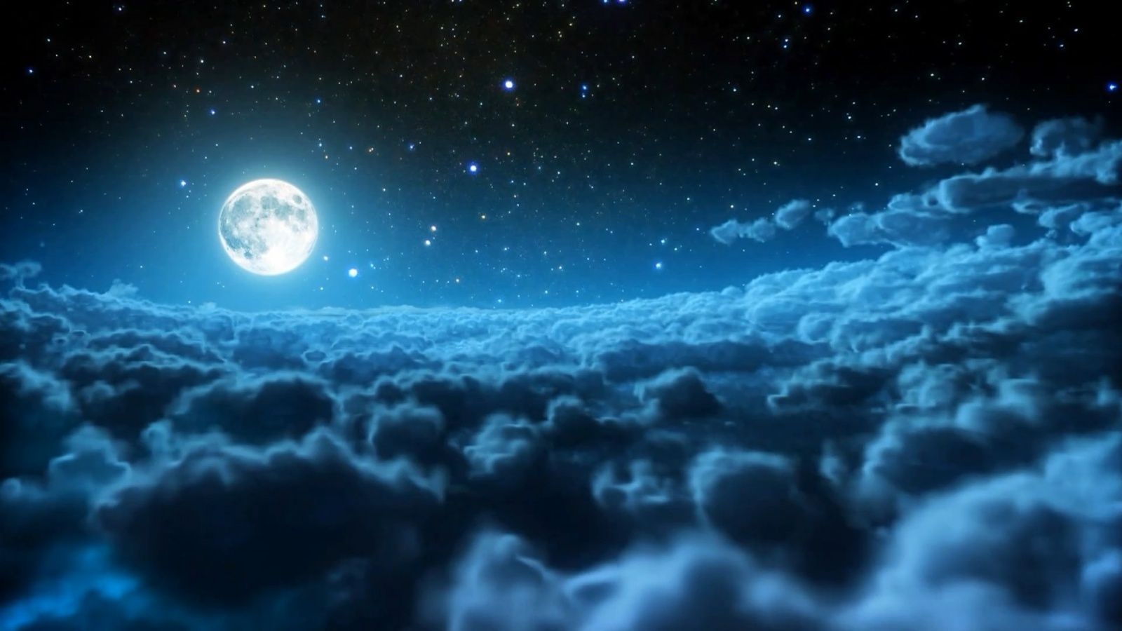 blue night sky wallpaper free wallpaper download 1600×900 blue night