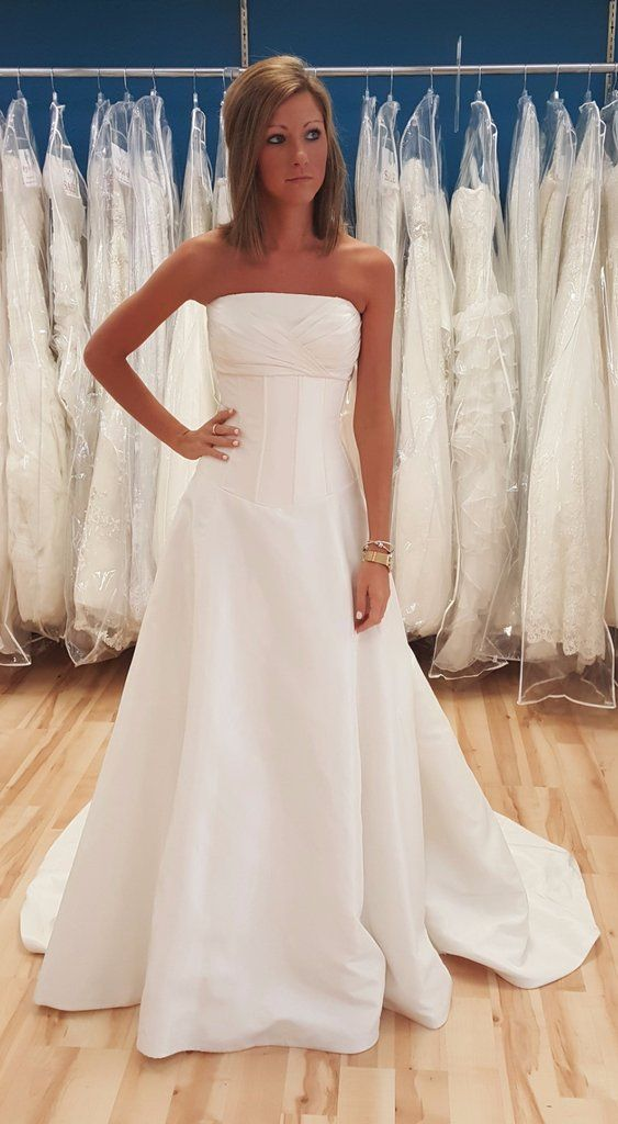 Beautiful, Simple Ivory Corset Style Wedding Gown at Shop Bridal ...