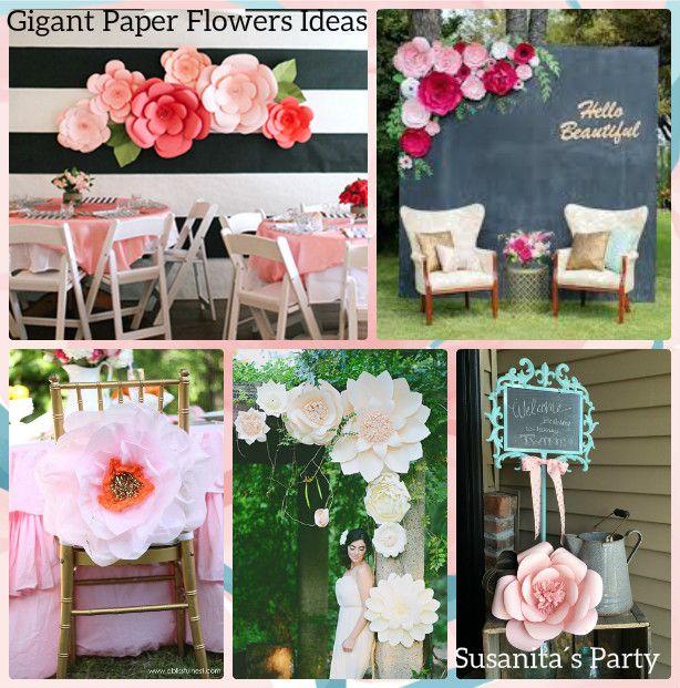 ideas para decorar con flores gigantes de papelun video de como hacerlas en instagram ideas