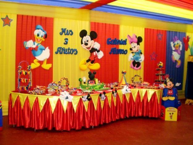 De todo en imagenes y manualidades la casa de mickey for Manualidades para decorar la casa