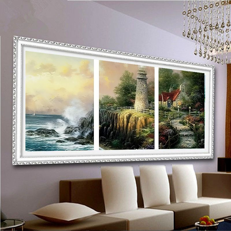 3D Diy Digital Painting By Numbers Quayside Newcastle Upon Tyne England Modern Wall Art Canvas Painting Gift For Children Home Decor 30X40Cm Frameless