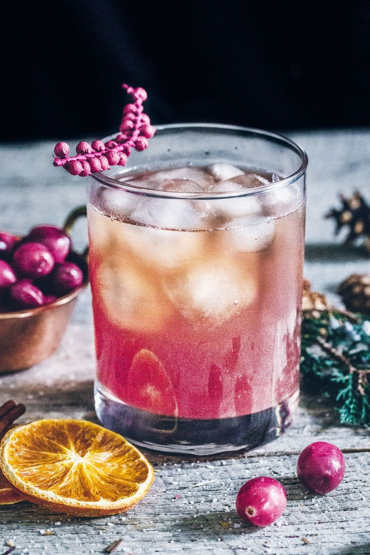 Cranberry Vanilla Old Fashioned