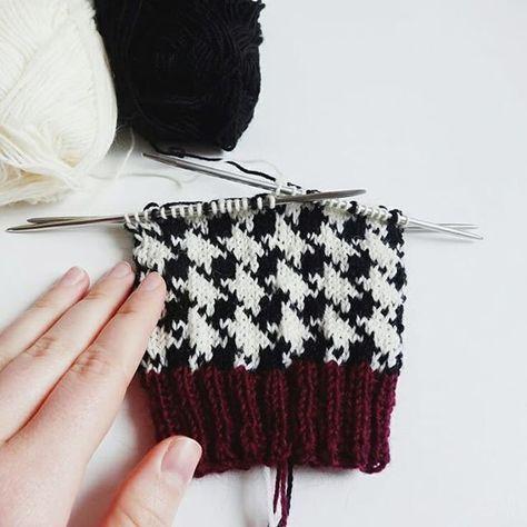 Photo of Ich liebe es, das Hahnentrittmuster zu stricken, wie findest du es in Kombination …