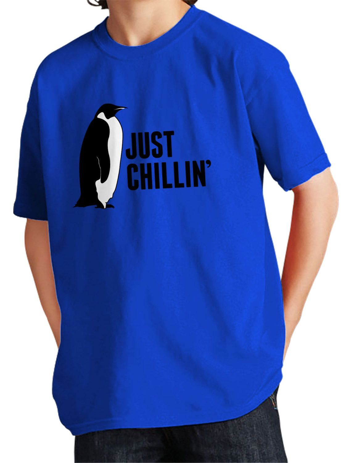 ae6aaa8983 Boy's Just Chillin T-Shirt Cool Penguin Shirt in 2019 ...