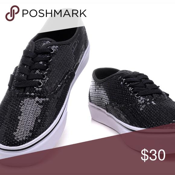 Vans Black sequin vans Vans Shoes Sneakers Vans, Vans