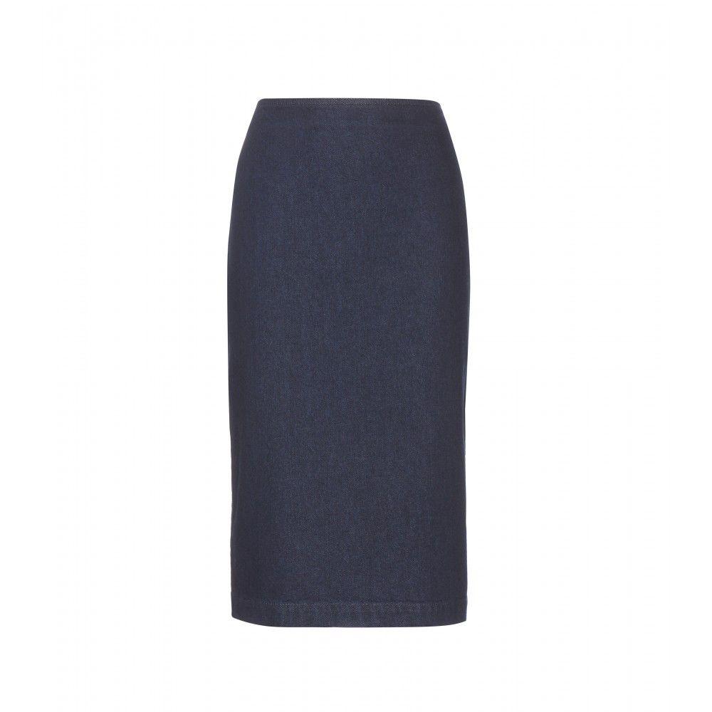 McQ Alexander McQueen - Denim pencil skirt - mytheresa.com