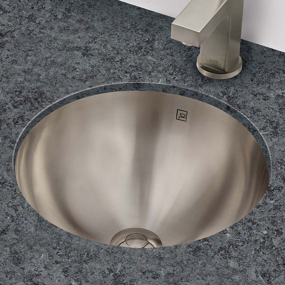 Simply Stainless Round Undermount Or Drop In Stainless Steel Lavatory Lavatory Bathroom Sink Vanity Stainless Stainless steel undermount bathroom sink