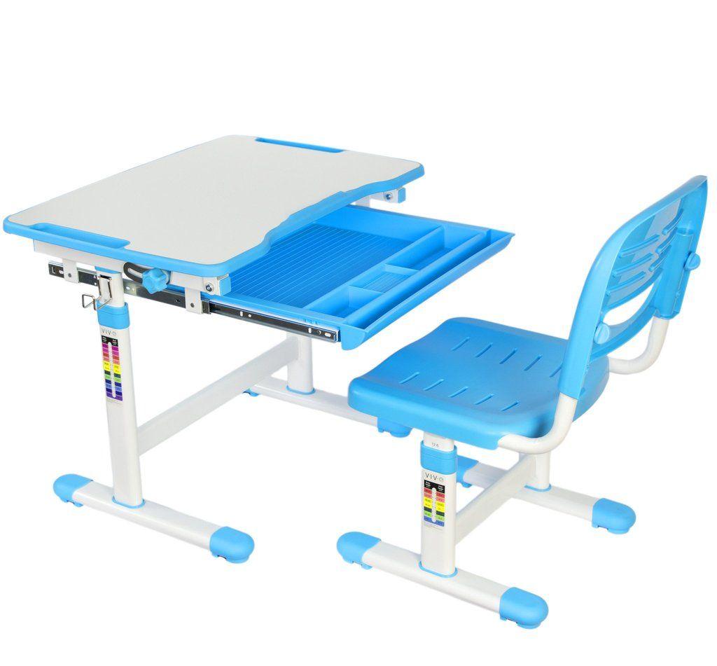 Vivo Kids Height Adjustable Desk Chair Kids Study Desk Childrens Desk Desk And Chair Set