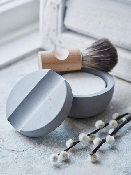 Luxury Concrete Shaving Set Nordic House Scandi Spa Concrete