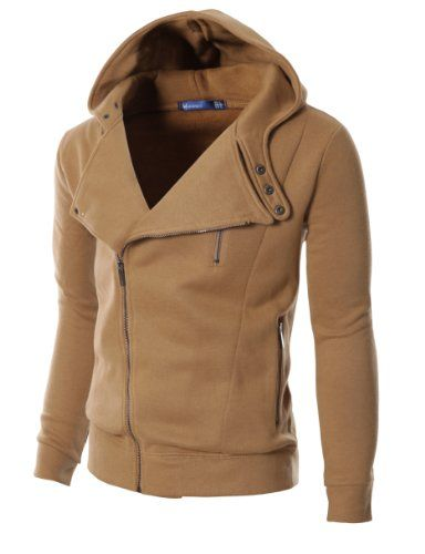 Doublju Mens Rider Hood Asymmetry Zip Up BROWN (US-M) Doublju,http://www.amazon.com/dp/B009UP8K5I/ref=cm_sw_r_pi_dp_36rhsb0XAPB6HWST