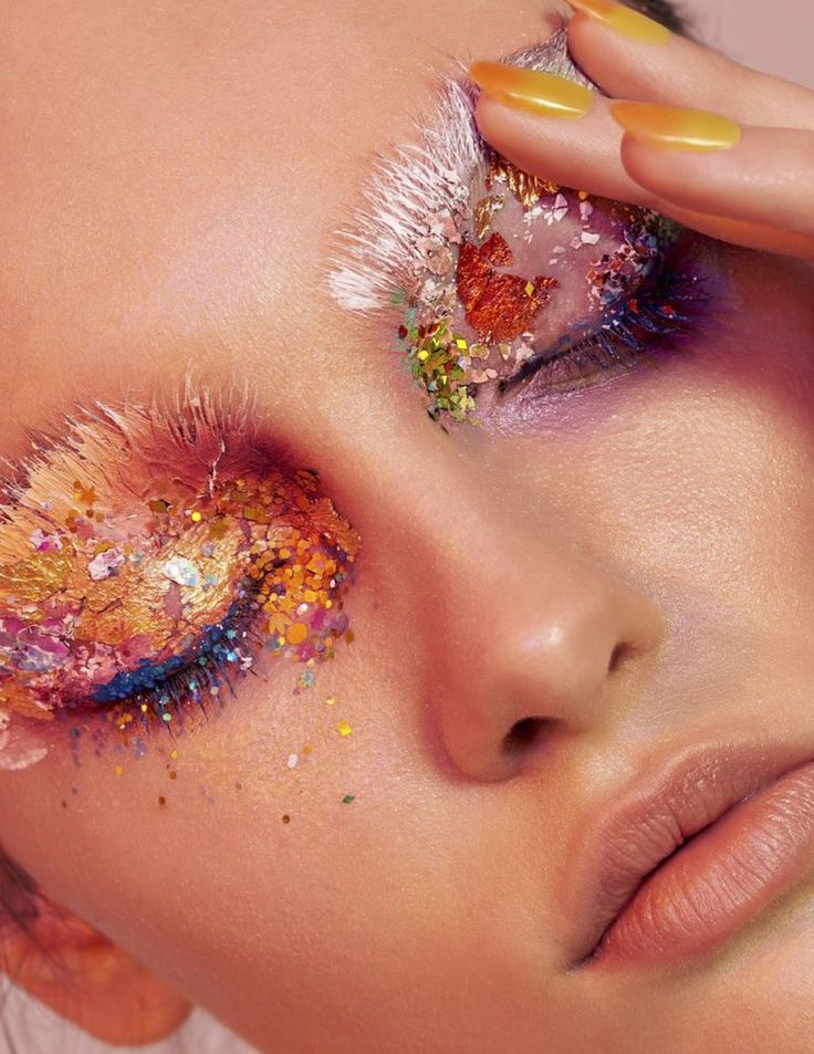 Inna Shvets Glitters In Lustre Dust By Fernando Gomez For L'Officiel Singapore May 2018