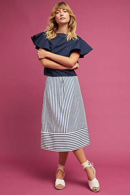 1a58edc5ac6 Della Bee Freeport Striped Midi Skirt   Women's Fashion   Midi skirt ...