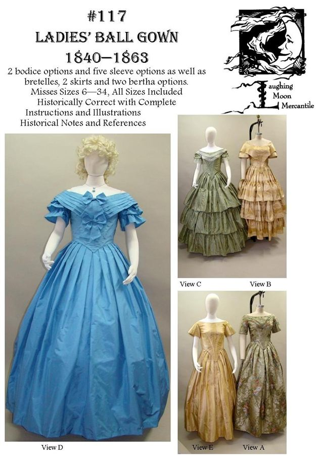 Pattern # 117 | Victorian, Victorian ball gowns and Fashion
