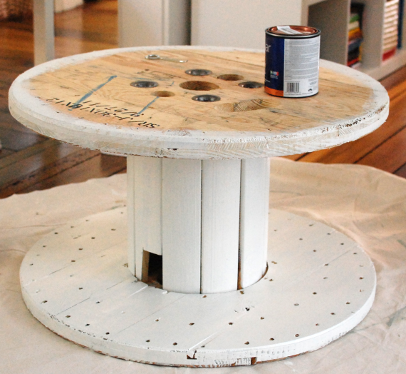 diy: wire spool coffee table | how to's | pinterest | wire spool