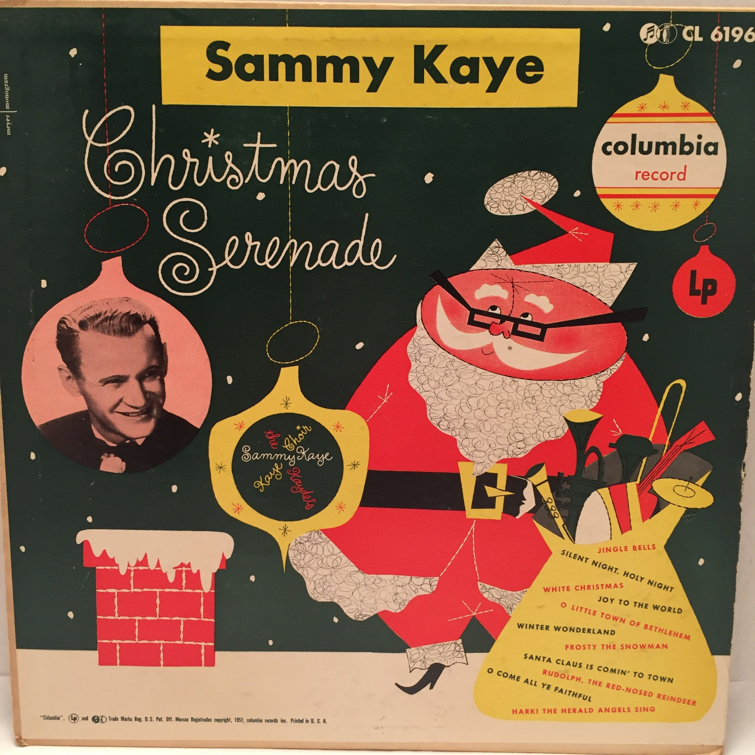 Sammy Kaye Christmas Serenade 1951 10 Vinyl Lp Columbia Record Cl 6196 Rare Vintage Collectible Album By Jackiesvin Vintage Christmas Vinyl Sales Silent Night