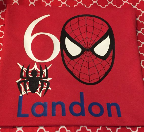 Spiderman birthday shirt by MooreCreations09 on Etsy