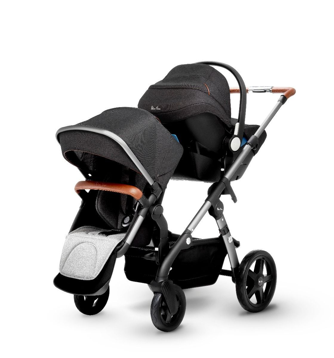 Silver Cross Wave Double Stroller Granite Awesome baby