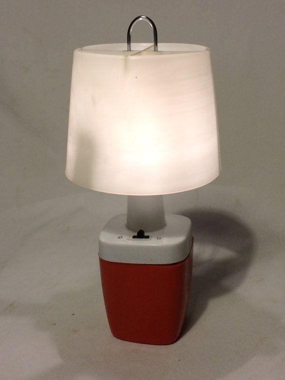 Vintage Ashflash Camping Lantern Battery Operated Camp Light Ashflash Lamp Glamping From Vintagechocol Camping Lanterns Battery Operated Lamps Camping Lights