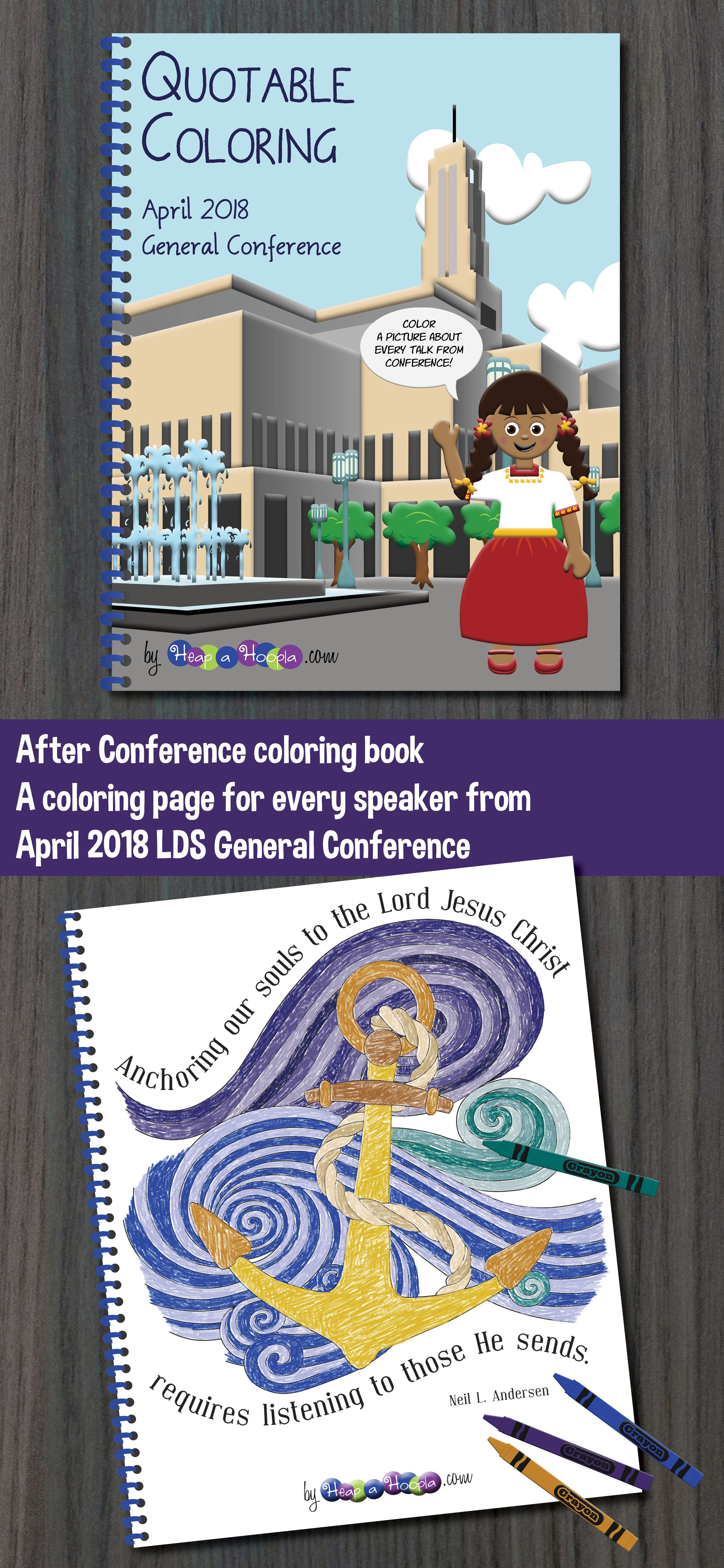 Coloring Book From April General Conference Talks