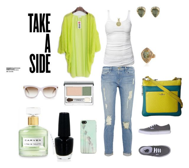 """Take a side"" by solbranca ❤ liked on Polyvore featuring James Perse, Frame Denim, Kate Spade, Vans, Zero Gravity, Carven, OPI, Samantha Wills, Alexis Bittar and Marc by Marc Jacobs"