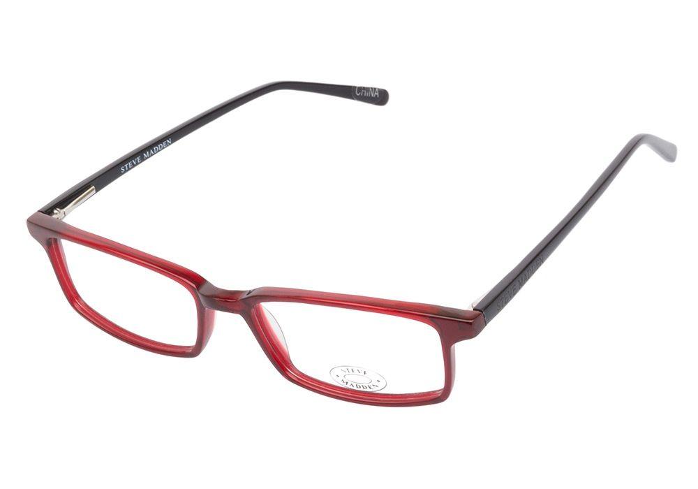 Steve Madden P034 BUROX Burgundy eyeglasses are daringly effortless ...