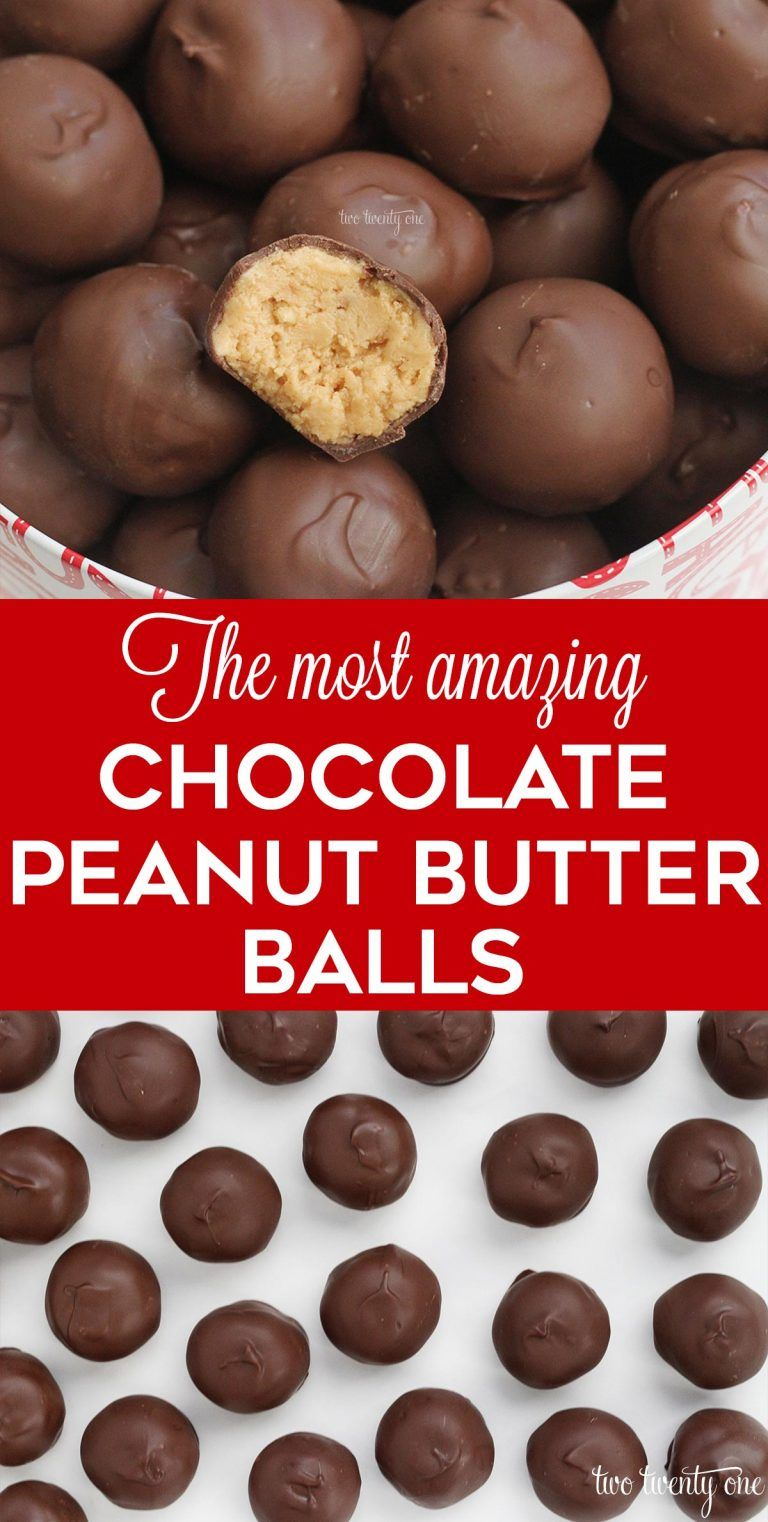 Peanut Butter Balls - Easy, No Bake Recipe