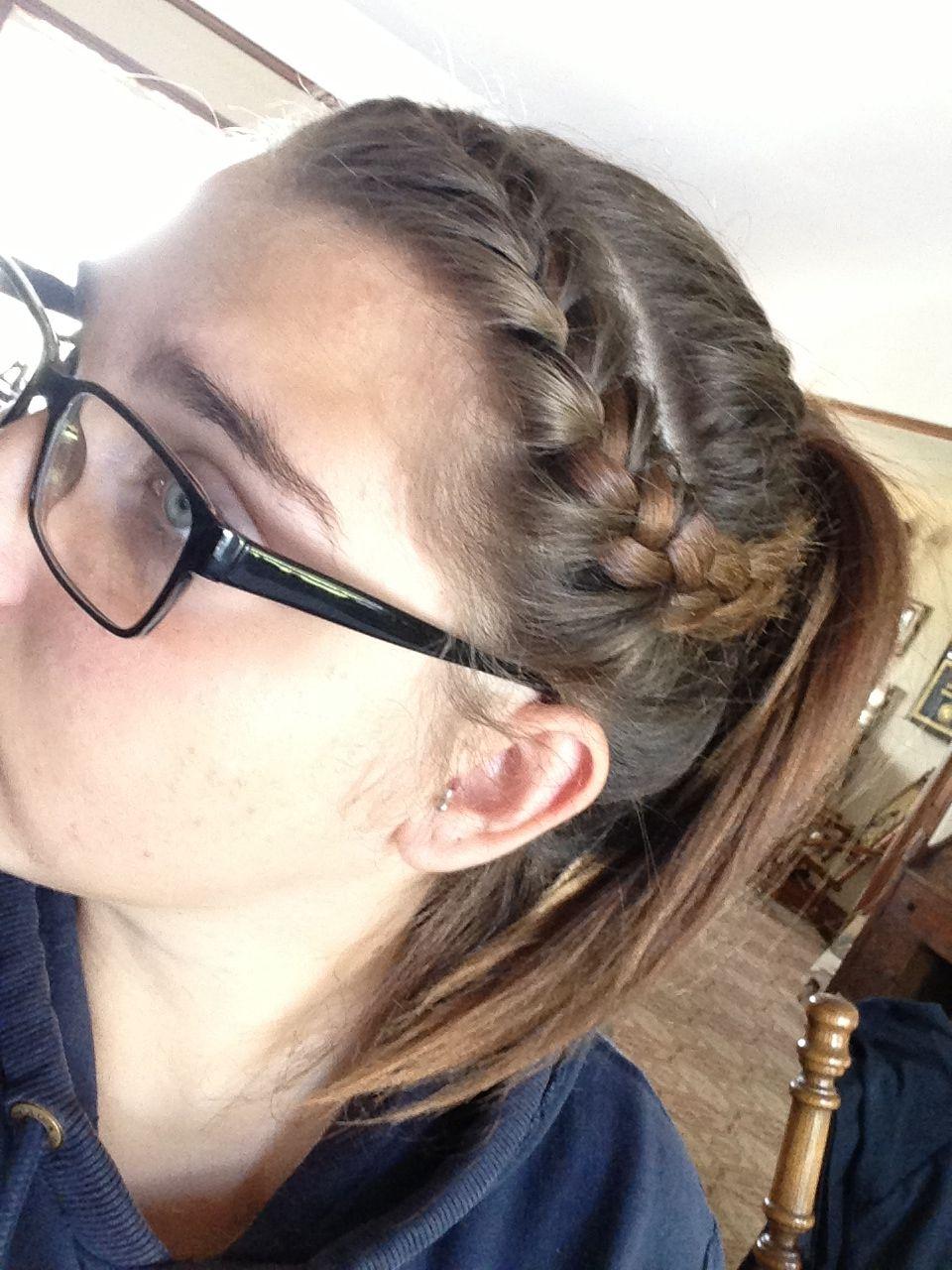 Pin By Jas K On Hair By Me Braided Bangs French Braided Bangs Bangs Ponytail