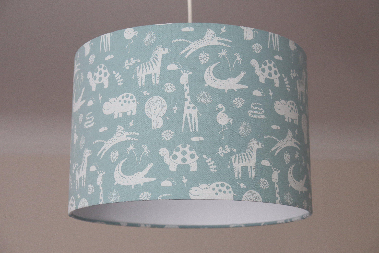 Lampenschirm Kinderzimmer mint, Babyzimmer Jungs, Lampe