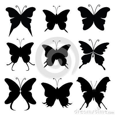 silhouette papillon imprimer   colorier les enfants