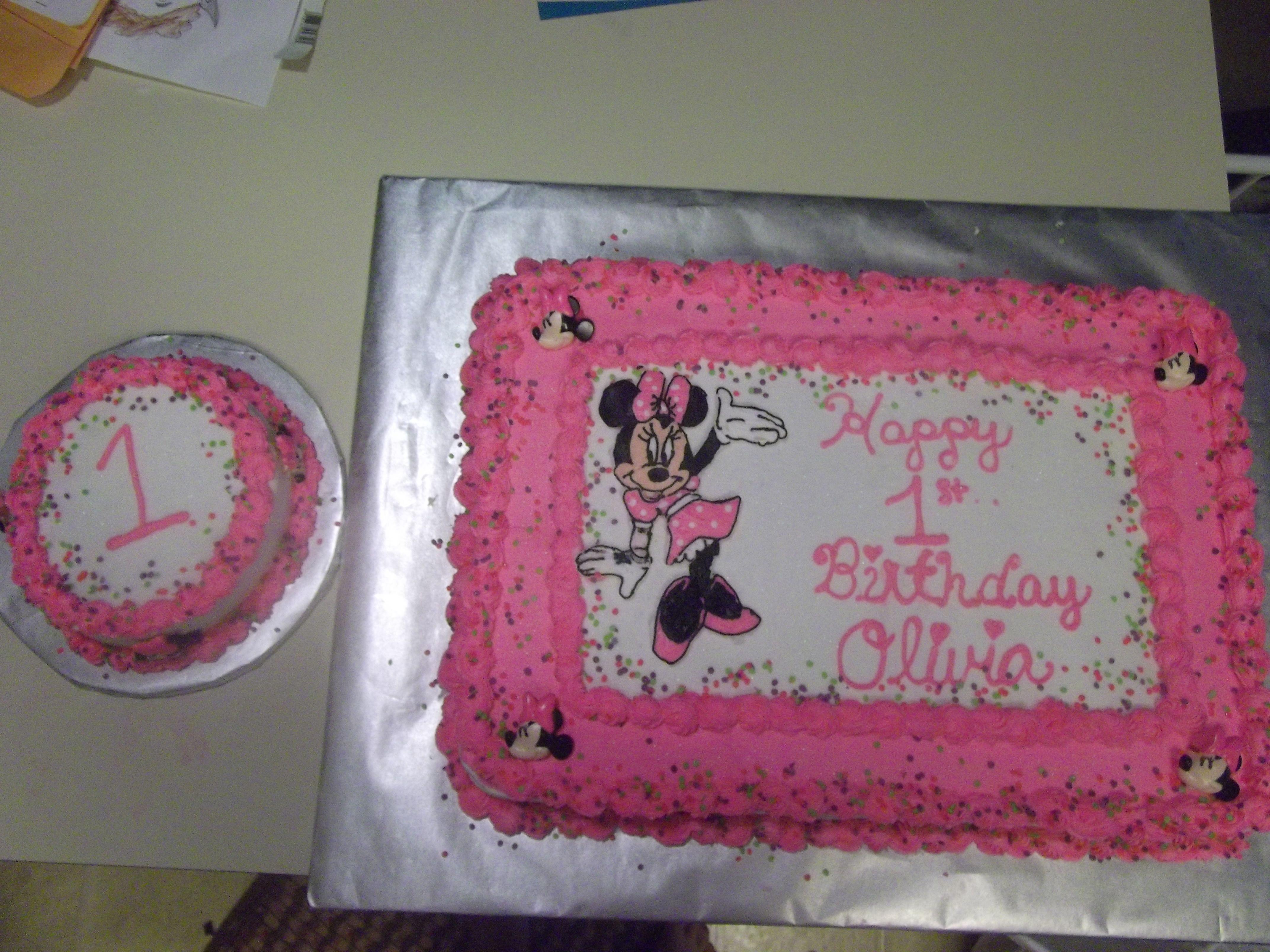 Minnie Mouse Cake Birthday Sheet Cakes Minnie Mouse Cake