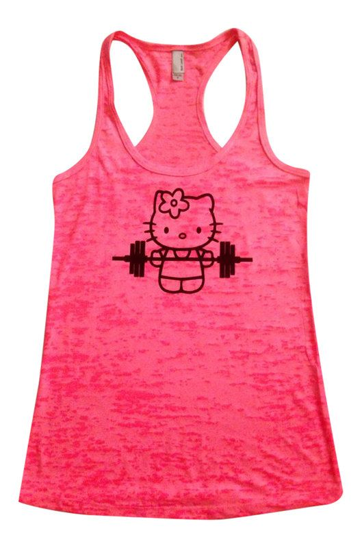 7dd34e7dd3fac Hello Kitty Lifts next level burnout tank by INNERSTRENGTHAPPAREL ...
