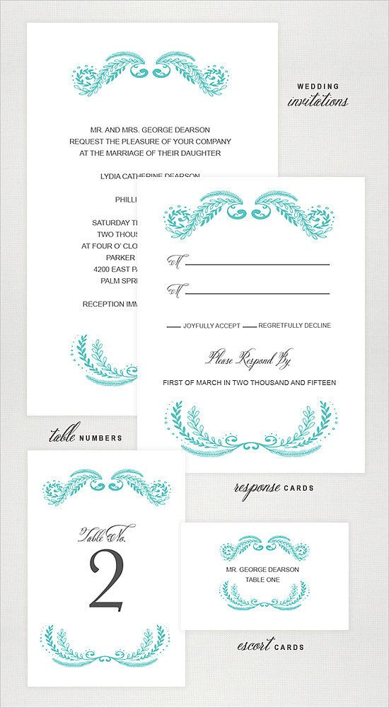 72 Beautiful Wedding-Invite Printables to Download For Free ...
