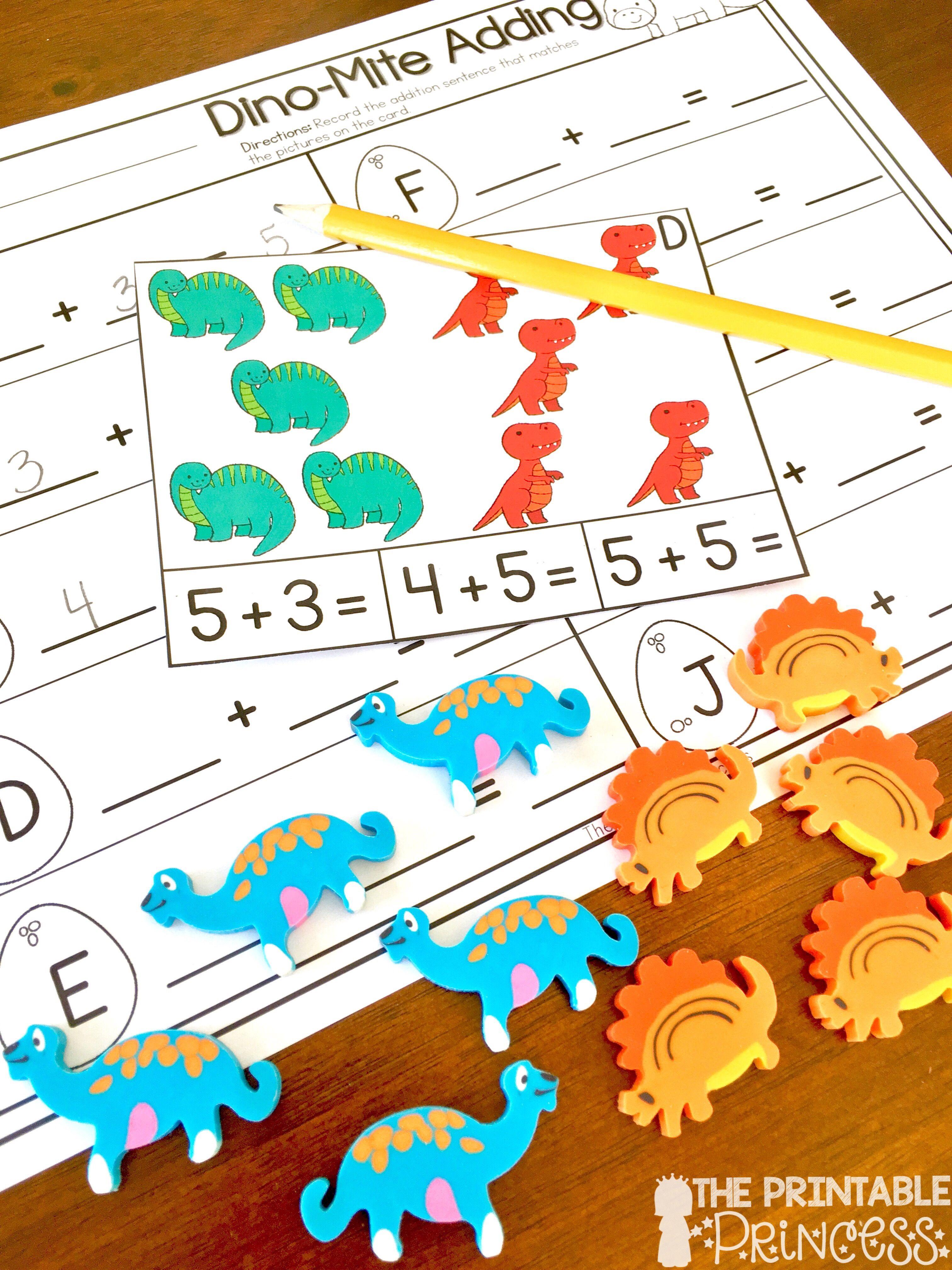 Kindergarten Dinosaur Theme Centers
