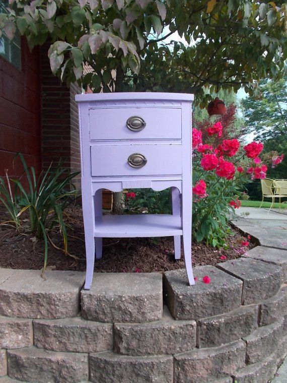 Shabby Chic End Table Hierloom Quality at Ancient by ancientofdaze, $119.00 I Love this color purple for a table