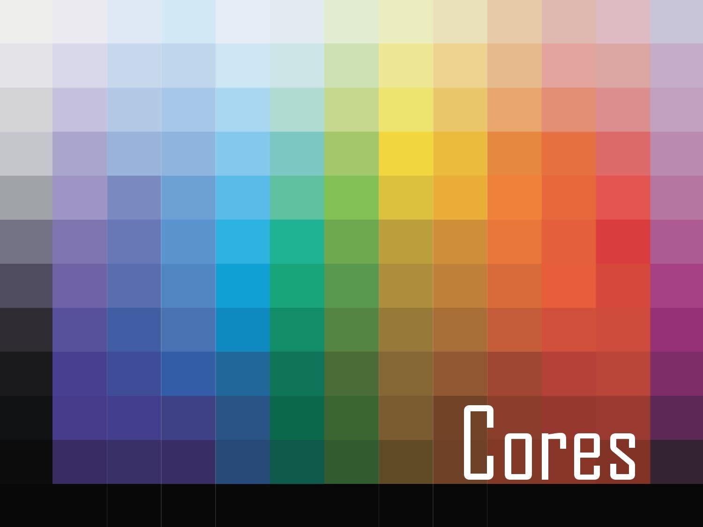 Aula 01 - Cores  Cores Introdução - Cor O que é cor?  Introdução - Cor Quando enxergamos uma cor, na verdade estamos   percebendo LUZ, portanto    Física da Cor Isaac Newton, 1666  Da luz branca obtêm-‐se as cores: violeta, azul-‐ v ioleta, ciano, verde,  amarelo, laranja e vermelho.    Física da Cor A luz branca contém todas as cores e a soma de todas as cores  resultam a luz branca novamente