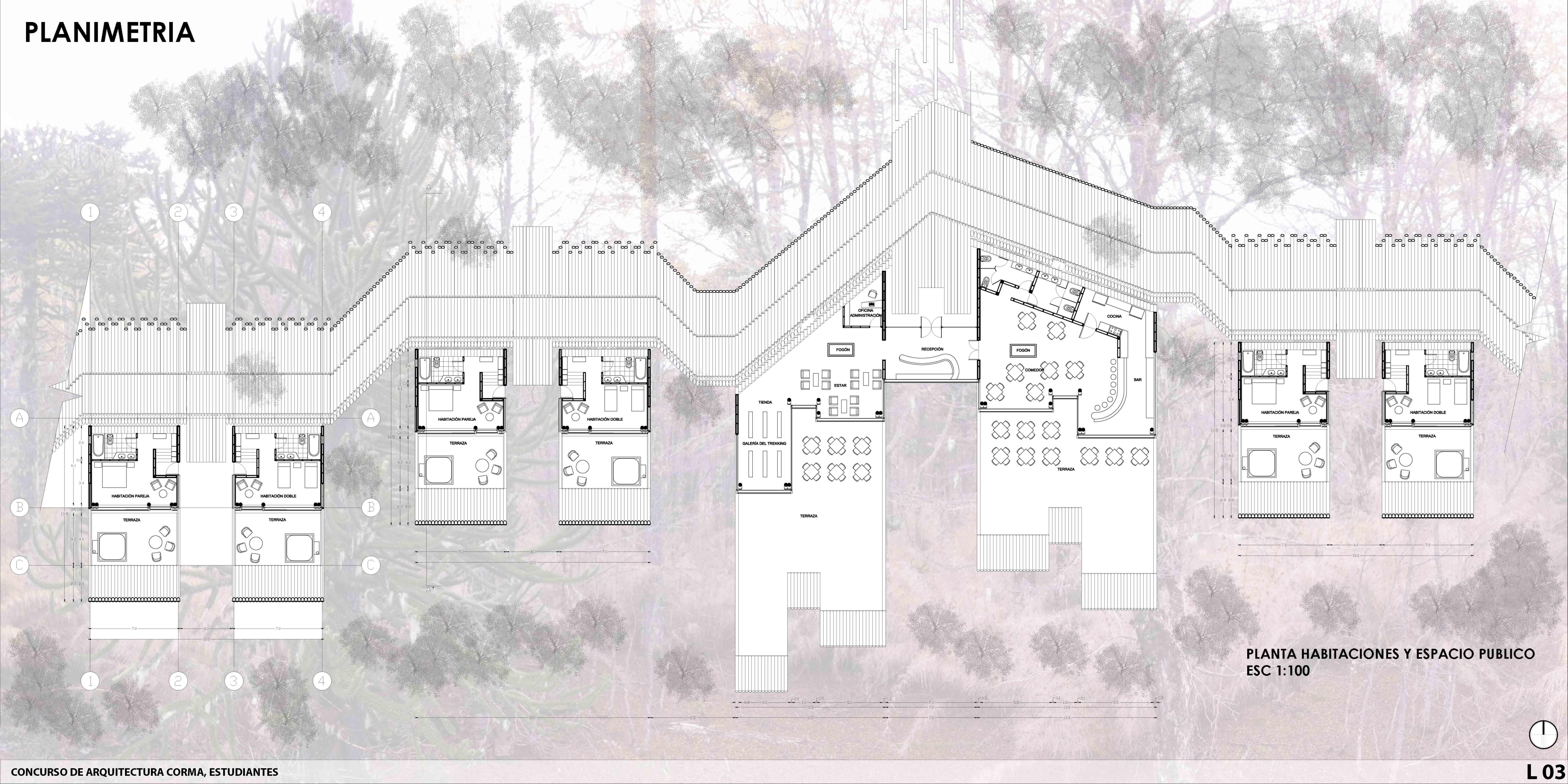 1er lugar 7062 3531 insp corma for Estudio de arquitectura en ingles