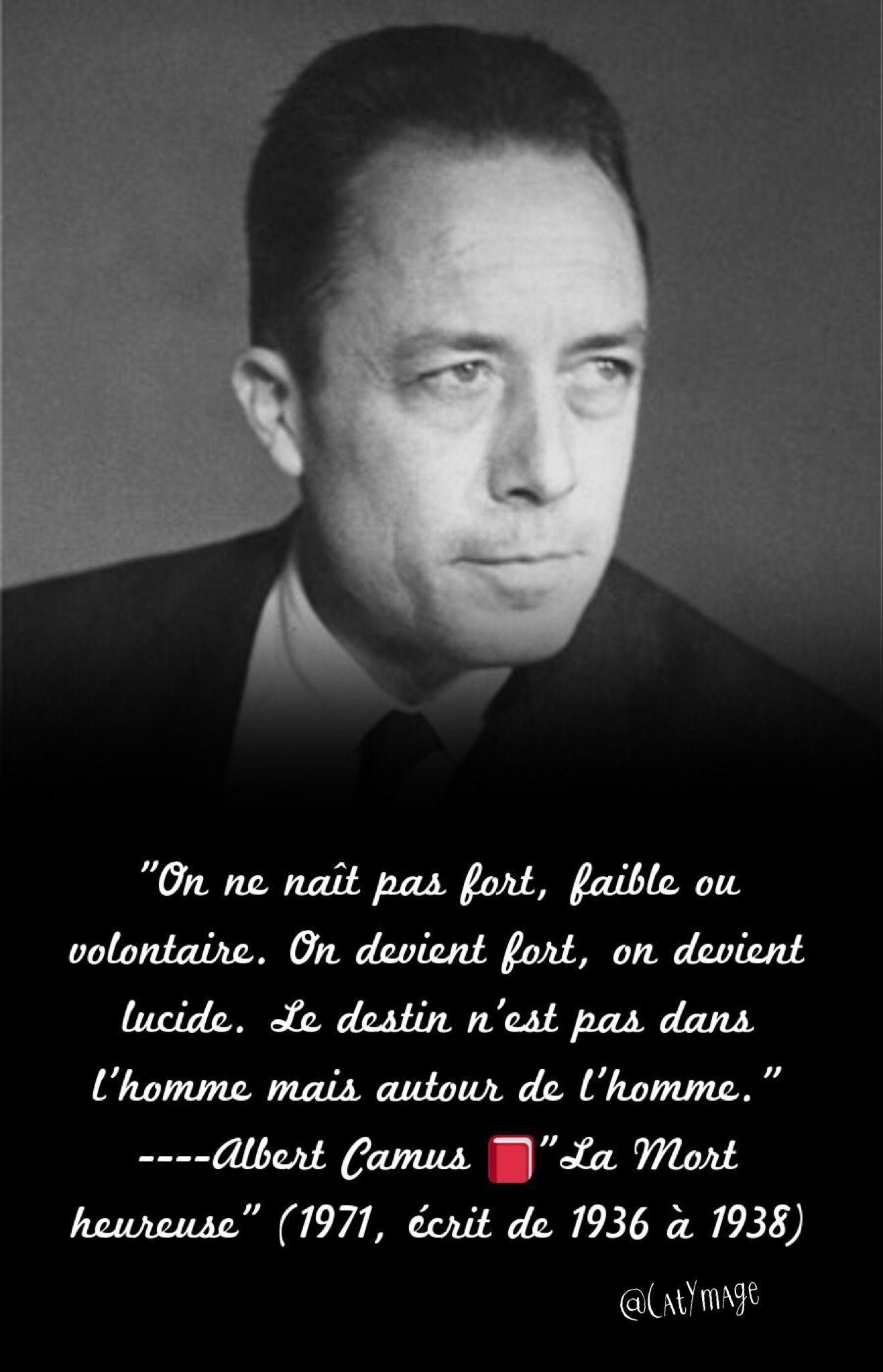 On Ne Nait Pas Homme On Le Devient : homme, devient, Naît, Fort,, Faible, Volontaire., Devient, Lucide., Destin, N'est, Mythe, Sisyphe,, Albert, Camus,, Proverbes, Citations