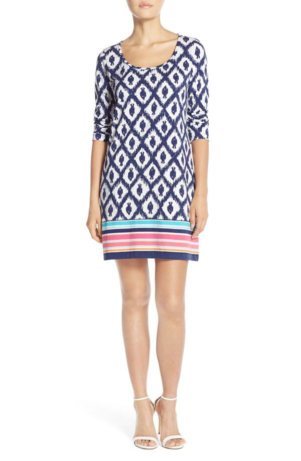 cb95c9fa249a49 Lilly Pulitzer® Lilly Pulitzer® 'Beacon' Ikat Pima Cotton Dress available  at #Nordstrom