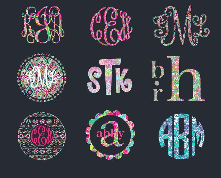 Patterned Monogram Decal For Your Car Window Cell Phone Laptop - Yeti decals