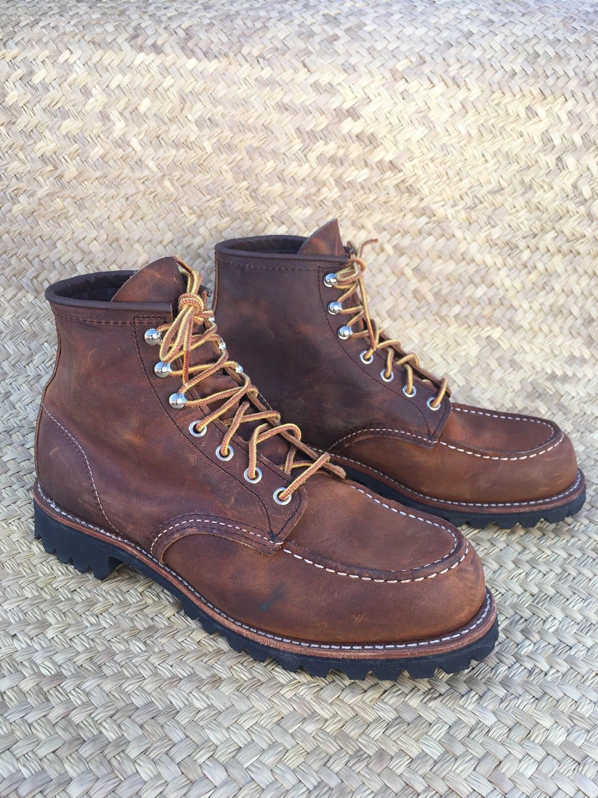 858ade88723 Details about Red Wing Men's 1907 Boots Classic Moc Toe Leather ...