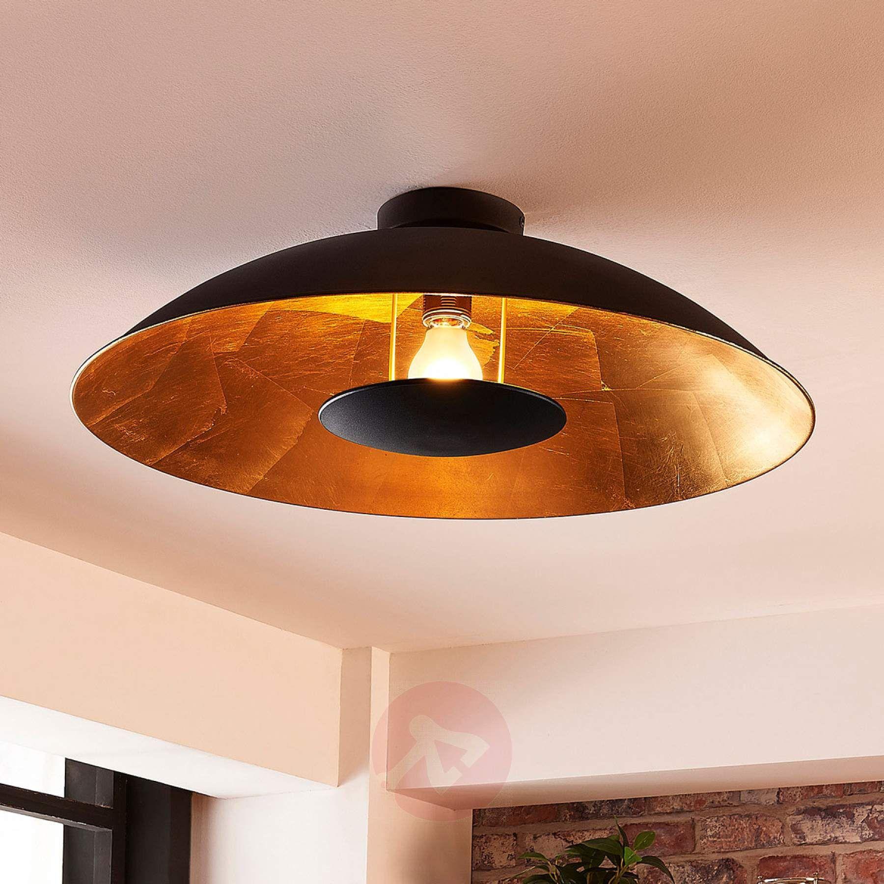 Schwarz Goldene Deckenlampe Emilienne 9621479 01 Deckenlampe