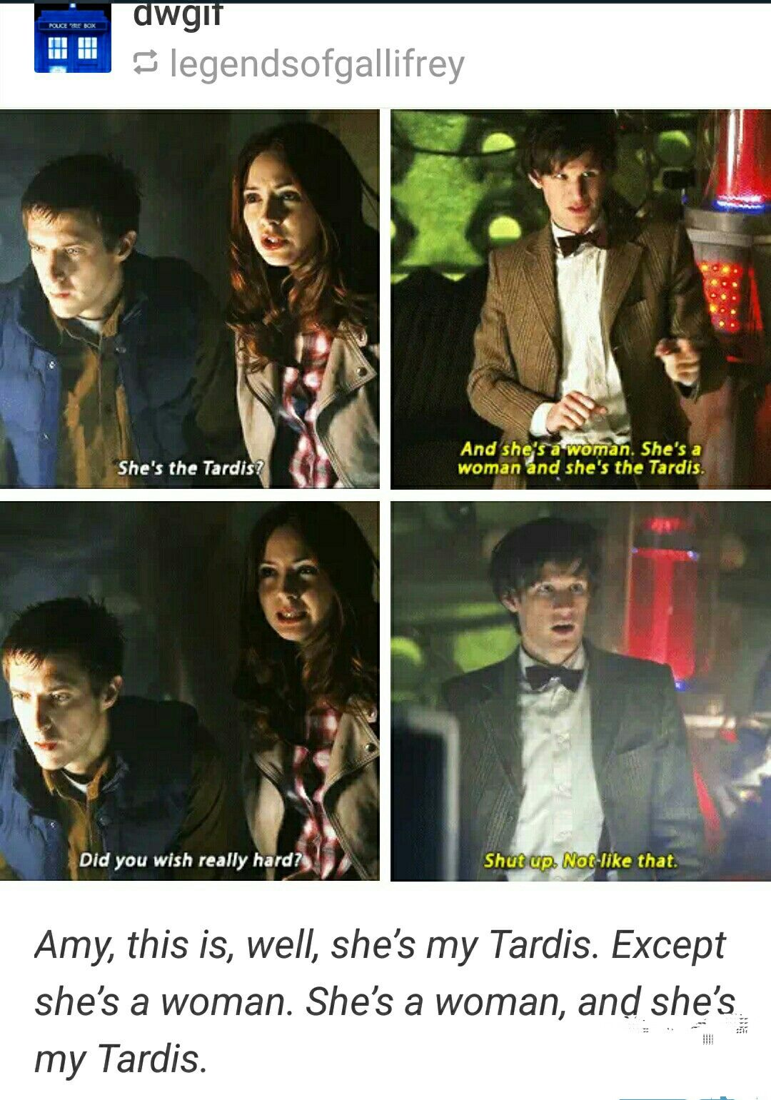 Image result for dr who matt smith she was you quote