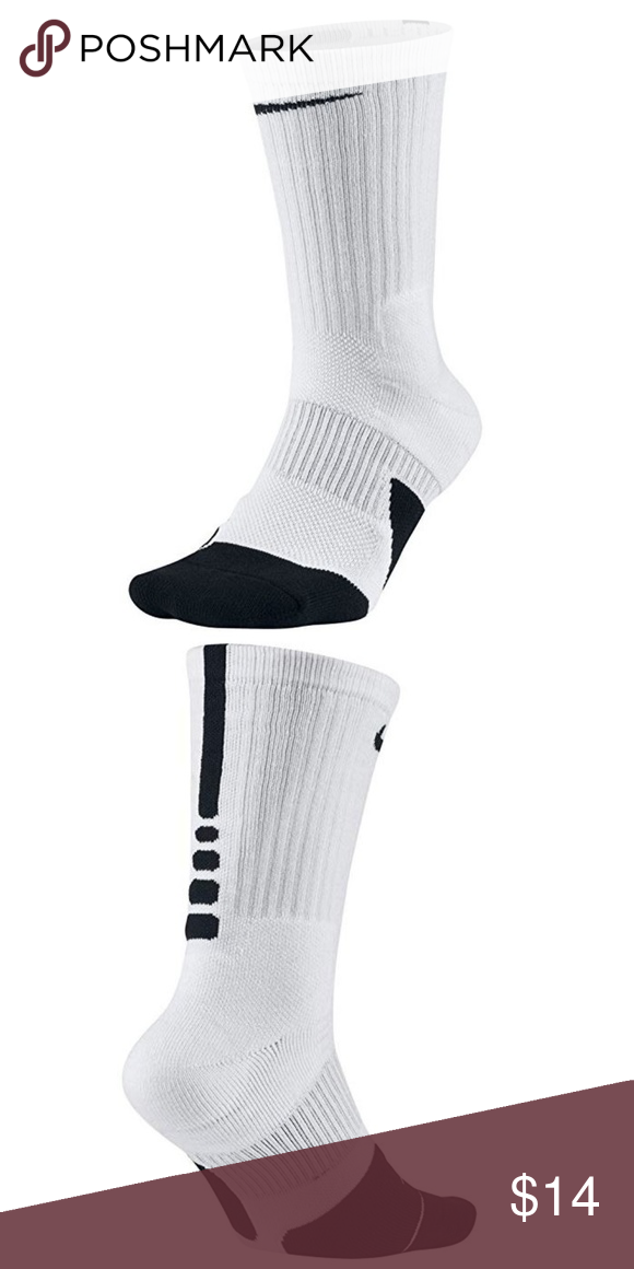 online store 022b3 469ce Nike Elite Crew Basketball Socks New with tag 61% Polyester 20% Nylon 17%  Cotton 2% Spandex Made in USA or Imported Dri-FIT Technology helps keep  feet dry ...