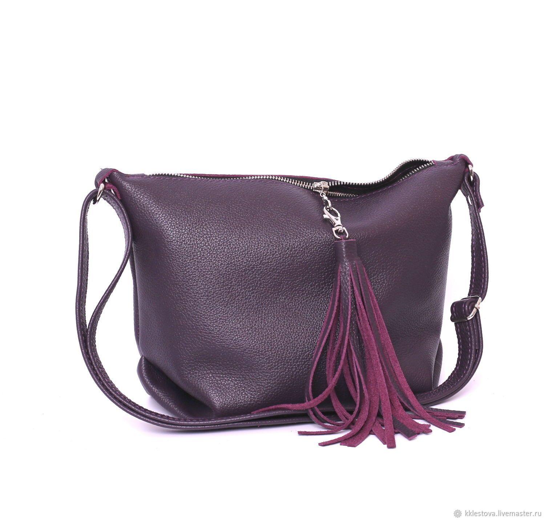 ff4ce424a151 Женские сумки ручной работы. Мягкая сумка с ремешком через плечо и карманом  - Кроссбоди.