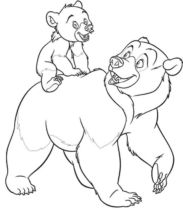 moeder & kind! ~ looks kinda likr thid would be from disney's ... - Brother Bear Moose Coloring Pages