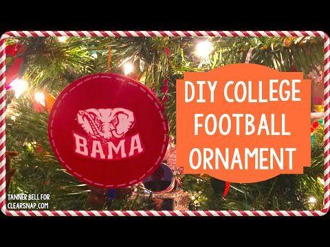 DIY College Football Ornament - A Little Craft In Your DayA Little Craft In  Your Day - DIY College Football Ornament - A Little Craft In Your DayA Little