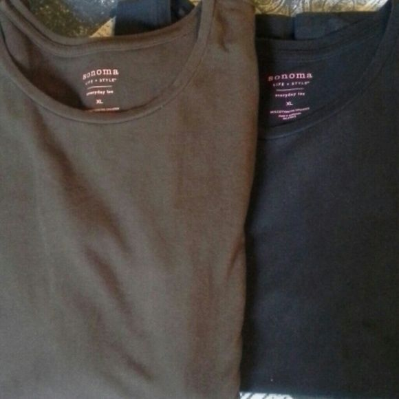 Tee shirt bundle 2 tees both sonoma and xl. One brown and one black shirt sleeve tee. Sonoma Tops Tees - Short Sleeve